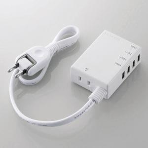 エレコム MOT-U06-2144WH モバイルUSBタップ(コード付) ホワイト