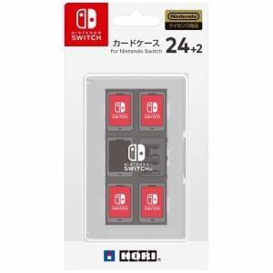 ホリ カードケース24+2 for Nintendo Switch ホワイト  NSW-028