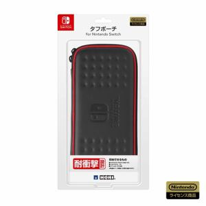 ホリ タフポーチ for Nintendo Switch ブラック×レッド  NSW-011