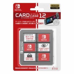 アイレックス カードケース12 for ニンテンドーSWITCH(クリア) ILXSW199