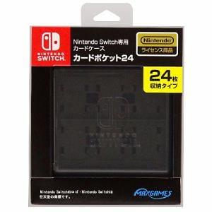 マックスゲームズ Nintendo Switch専用カードケース カードポケット24 ブラック HACF-02BK