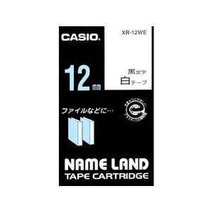 カシオ ネームランド スタンダードテープ XR12WE