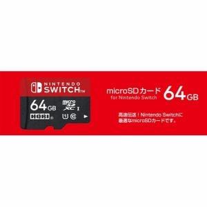 ホリ マイクロSDカード 64GB for Nintendo Switch NSW-046