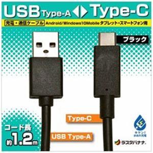 ラスタバナナ RBHE262 1.2m USB-C ⇔ USB-A ケーブル 充電・転送 ブラック