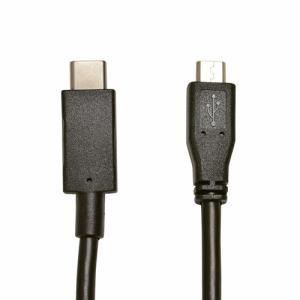 ラスタバナナ RBHE268 充電・通信ケーブル TypeC-microB 1.2m   ブラック
