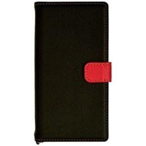 ラスタバナナ 3085XPXZS Xperia XZs / Xperia XZ用 手帳型ケース+COLOR ブラック/レッド