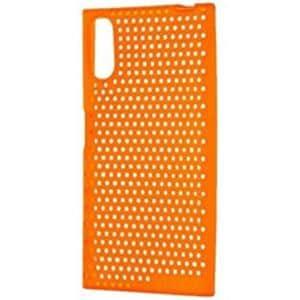 e2848ecd66 レイアウト Xperia XZs / Xperia XZ用 シリコンケース メッシュ オレンジ ...