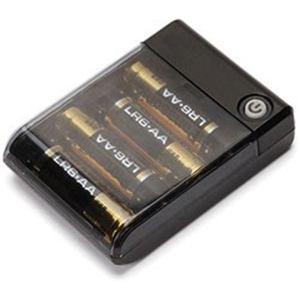 PGA PG-JUK1U1BK USBポート搭載 乾電池交換式充電器 出力1A iCharger  ブラック