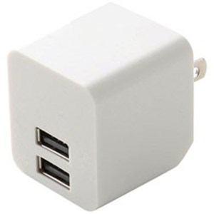 エレコム MPA-ACUEN000NWH スマートフォン・タブレット用AC充電器(2ポート2.4A) ホワイト