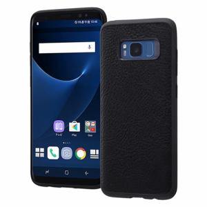 Ray-out(レイアウト) RT-GS8LC12/B docomo Galaxy S8 SC-02J/au Galaxy S8 SCV36用オープンレザーケース スマート ブラック