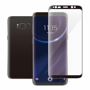 エレコム PM-GS8FLGGRBK Galaxy S8用フルカバーガラスフィルム 0.33mm ブラック