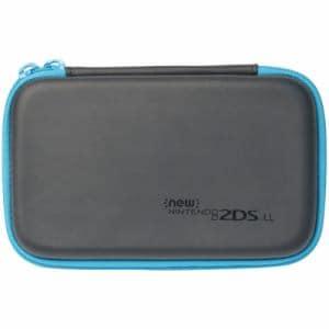 スリムハードポーチ for Newニンテンドー2DSLL ブラック×ターコイズ 2DS-108