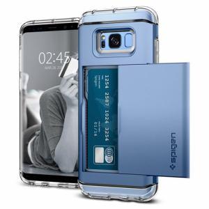 Royal Monster(ロイヤルモンスター) 571CS21118 シュピゲン ケース Galaxy S8+ Crystal Wallet ブルーコーラル