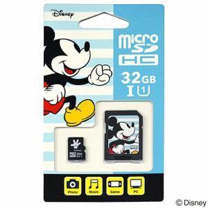 アイアップ EU-MSD32-MM 【Nintendo Switch対応】 ディズニー microSDカード アダプターセット 32GB ミッキー