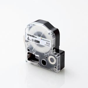 カラークリエーション CTC-KSS6K キングジム「テプラ」PROシリーズ用テープカートリッジ(白テープ/黒文字/6mm)