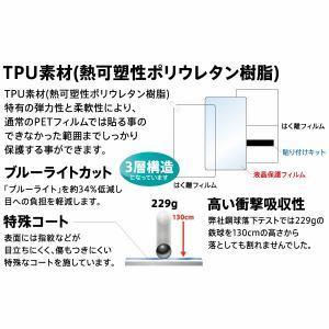 レイ・アウト RT-P14FT/WZM iPhone 8/7 フィルム TPU 光沢 フルカバー 衝撃吸収 BL RT-P14FT/WZM