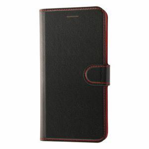 レイ・アウト RT-P15ELC1/BR iPhone 8 Plus用 手帳 シンプル マグネット/ブラック/レッド RT-P15ELC1/BR ブラック/レッド