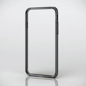 エレコム PM-A17MHVBBK iPhone 8用ハイブリッドバンパー ブラック