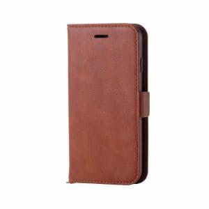 エレコム PM-A17MPLFYBR iPhone 8用 ソフトレザーカバー磁石付 ブラウン