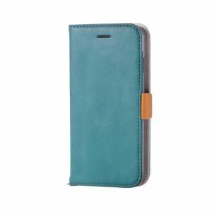 エレコム PM-A17MPLFYGNL iPhone 8用 ソフトレザーカバー磁石付 エメラルドグリーン