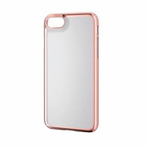 エレコム PM-A17MPVKMPN iPhone 8用 シェルカバー極みサイドメッキ ローズゴールド