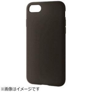 エレコム PM-A17MSCBK iPhone 8 シリコンケース ブラック