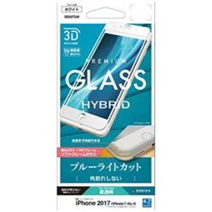 ラスタバナナ SE856IP7SAW iPhone 8/7/6s/6用 3Dガラスパネル ソフトフレーム ブルーライトカット光沢(ホワイト)