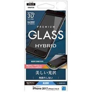 ラスタバナナ SG856IP7SAB iPhone 8/7/6s/6用 3Dガラスパネル ソフトフレーム 光沢(ブラック)