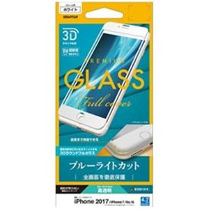 RASTA BANANA(ラスタバナナ) 3E856IP7SAW iPhone8/7/6s/6 フィルム 曲面保護 強化ガラス ブルーライトカット 3Dフレーム ホワイト