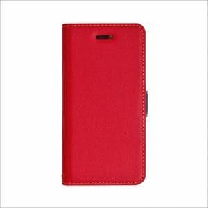 RASTA BANANA(ラスタバナナ) 3435IP7SA iPhone8/7/6s/6 ケースカバー 手帳型 +COLOR 衝撃吸収 薄型 サイドマグネット RD×NV