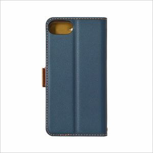 RASTA BANANA(ラスタバナナ) 3436IP7SA iPhone8/7/6s/6 ケースカバー 手帳型 +COLOR 衝撃吸収 薄型 サイドマグネット NV×BR