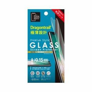 PGA PG-17XGL04 iPhone X用 極薄クリアガラス