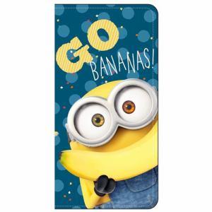 グルマンディーズ MINI-62A iPhone 8用 怪盗グルーシリーズ(ミニオンズ)iPhone7s/7対応フリップカバー  ボブ&バナナ