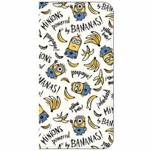 グルマンディーズ MINI-65B iPhone 8 Plus用 怪盗グルーシリーズ(ミニオンズ)iPhone7sPlus/7Plus対応フリップカバー  バナナ総柄