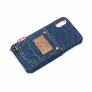 PGA(ピージーエー) YY02006 iPhoneX用ハードケースポケット付き リラックマ/デニム