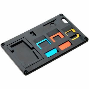 ミヨシ SCM-SI01/BK SIM変換アダプター付 カードホルダー ブラック