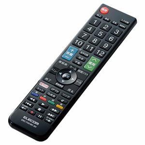 エレコム ERC-TV01BK-SH かんたんTV用リモコン(シャープ用) ブラック