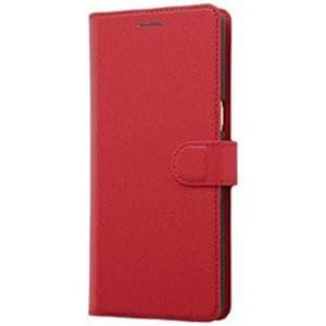 レイ・アウト Galaxy Note8(SC-01K/ SCV37)用 手帳型ケース シンプル マグネット(レッド) RT-GN8ELC1/ R