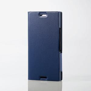 エレコム PD-SO02KPLFUNV Xperia(TM) XZ1 Compact用ソフトレザーカバー/薄型/磁石付 ネイビー