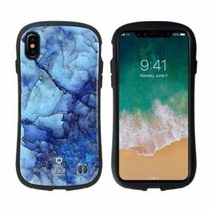 Hamee 41-889732 iPhone X専用 iFace First Class Marbleケース ブルー