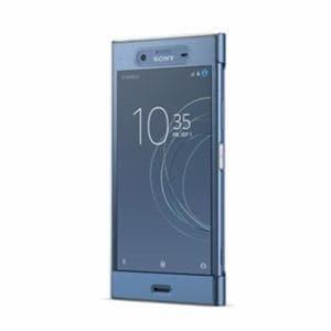 ソニー SCTG50JP/L Xperia XZ1(SO-01K/SOV36/SoftBank)用 手帳型ケース フルウィンドウ付き Style Cover Touch ブルー