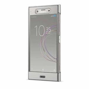 ソニー SCTG50JP/S Xperia XZ1(SO-01K/SOV36/SoftBank)用 手帳型ケース フルウィンドウ付き Style Cover Touch ウォームシルバー