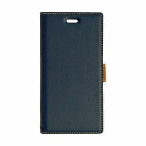 ラスタバナナ 3626XZ1 薄型手帳ケース サイドマグネット Xperia XZ1  ネイビー×ブラウン
