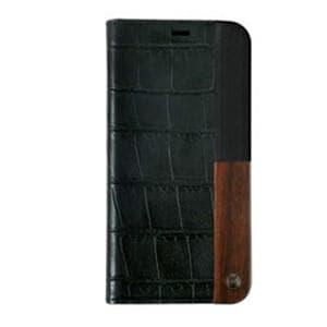 AEGIS iPhone X用 50:50 Luxe Croc Folio Hard Shell ブラック UUIP8WC001