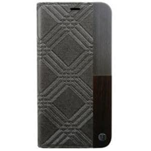 AEGIS iPhone X用 50:50 Trinity Emboss Folio Hard Shell グレー UUIP8WC002