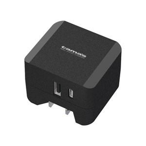 AxinG TSA80UCAK AC充電器 コンセントチャージャー C+Aポート 3.4A(ブラック)