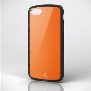 エレコム PM-A17MTSLDR iPhone 8用耐衝撃ケース 「TOUGH SLIM LITE」 オレンジ