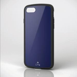 エレコム PM-A17MTSLNV iPhone 8用耐衝撃ケース 「TOUGH SLIM LITE」 ネイビー