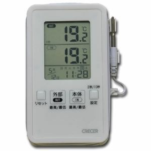 クレセル AP-09W IN-OUTデジタル温度計