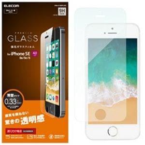 エレコム PM-A18SFLGG iPhone SE/ 5s/ 5c/ 5用 ガラスフィルム 0.33mm